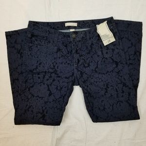 BANANA REPUBLIC Jeans - BANANA REPUBLIC FLORAL SKINNY ANKLE JEANS SIZE 28